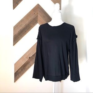 CJLA Black Long Sleeve Top